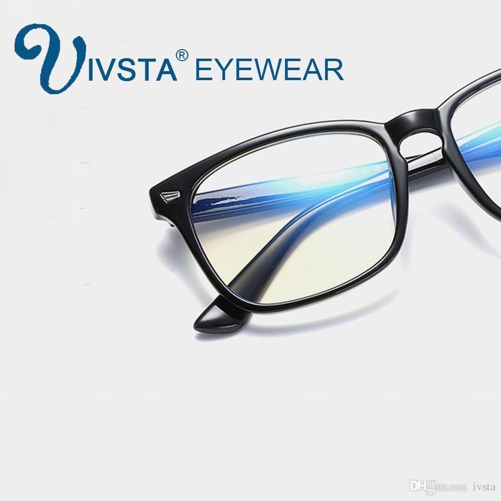 Compre IVSTA Azul Óculos De Luz Mulheres Lentes Óticas Óculos De Jogos  Homens Anti Azul Raios Óculos De Computador Para Quadro De Proteção Do  Computador De ... 085ea36e05