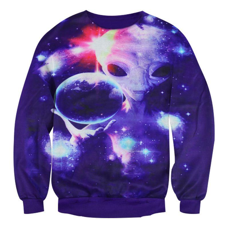 986ad8f0fd1c 2019 W1208 Alisister New Fashion Galaxy Space Sweatshirt For Men Women  Print Alien Hoodies 3d Harajuku Graphic Hoodies Pullovers Plus Size From  Shen05