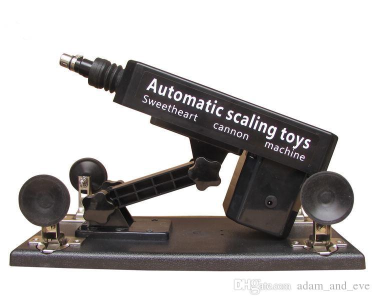 Mitrailleuse sexuelle automatique de sexe / Canon A02 avec le gros gode faire l'amour machines d'amour 0-450times / min jouets de masturbation