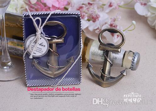 Rapide DHL Livraison gratuite / faveur de mariage faveur de la plage ancre ouvre-bouteille faveur de mariage douche faveur parti cadeaux de mariage cadeau