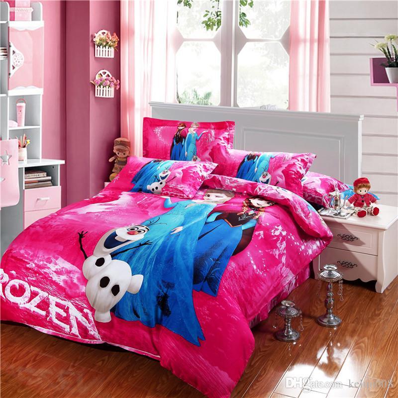 Frozen Bedroom Set Wholesale Frozen Bluepink Bed Set Cartoon Bedding Set Design