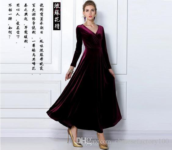 2014 Christmas Party Dress: Fashion Christmas Party Dress For Women V Neck Elegant