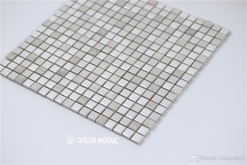 ceramic and marble mosaic tile for bathroom and kitchen decoration wall tile floor tile 4 square meters CM1107