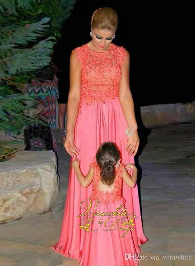 Compre 2016 Nueva Moda Madre E Hija Dos Vestido De Festa Yardas ...