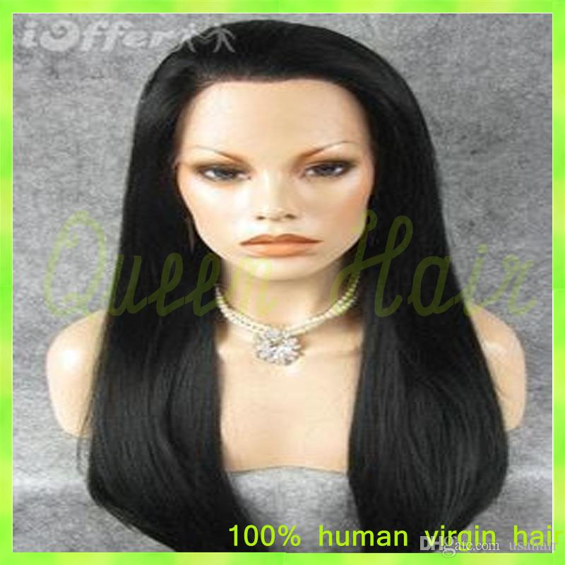 Silky Straight Lace Wig Virgin Brazilian Human Hair Glueless Front Lace Wig & Full Lace Human Hair Wigs for Black Woman