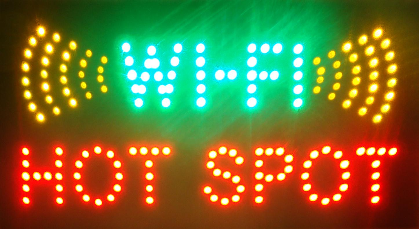 Hot sale super Brightly animated LED WiFI Neon Sign size 19 x10 lighted  advertising signs