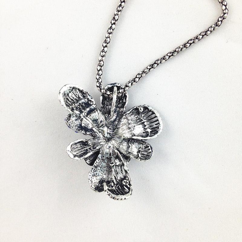 Мода Национальный ретро стиль сплава ожерелье старинные цветок свитер ожерелье чешский кулон аксессуары для женщин одежда