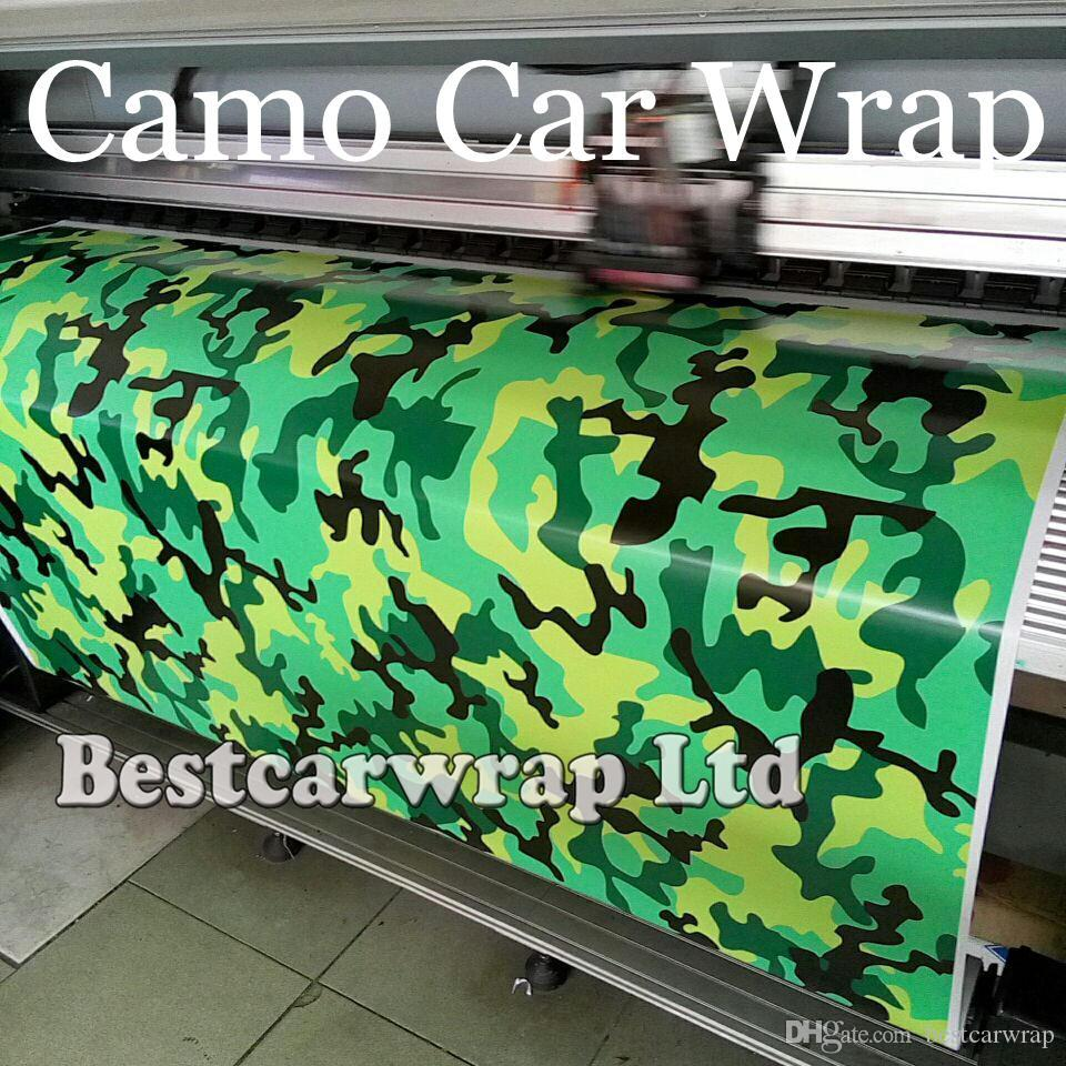 2019 green yellow camo graffiti camouflage vinyl wrap sheet diy arctic camo sticker with air release