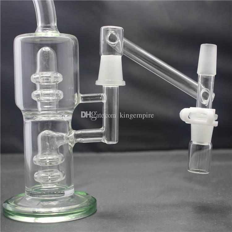 Reclaimer a discesa da 18 mm Maggiore comfort e praticità adatta Giunti maschio da 18 mm Bong in vetro Tubi dell'acqua Ashcatcher Vieni con clip Keck