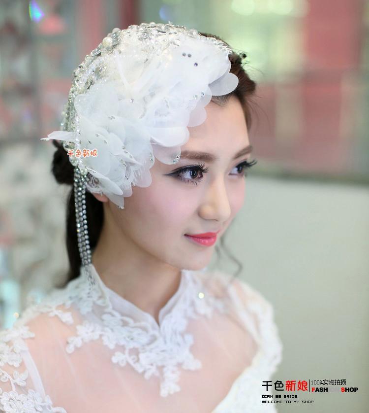 Nowy 2021 Bridal Hat Kapelusze ślubne Kapelusze ślubne i fascynatorzy Koktajl Akcesoria do włosów Deparę Couture Wedding Hats