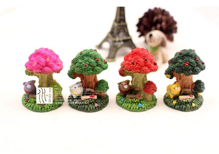 2018 Artificial Mini Trees Ornaments Fairy Garden Miniatures Toys Gnome  Moss Terrarium Decor Resin Crafts Bonsai Home Decor For Diy Zakka From  Colorful_room ...