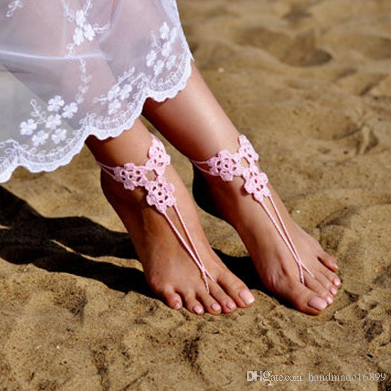 e2e971972 Crochet Light Pink Barefoot Sandals