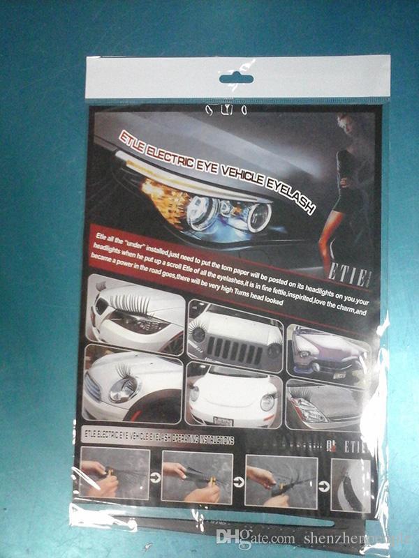 Automobile Noir 3D Phare Cils voiture Cils Auto Cils autocollants 3D voiture cils charme Logo autocollant pour voiture =