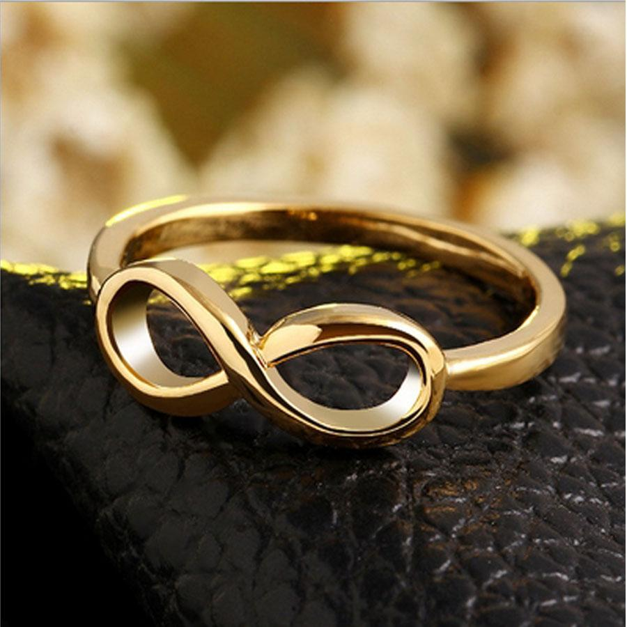 Wholesale Brief Infinity Ring Rose Gold Plated Love Infinity Rings
