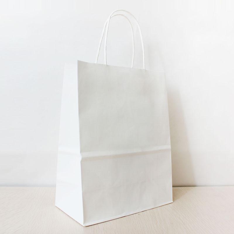 cm white paper shopping bag handle gsm kraft paper 27 21 11cm white paper shopping bag handle 130gsm kraft paper bag can oem customized printing logo shipping