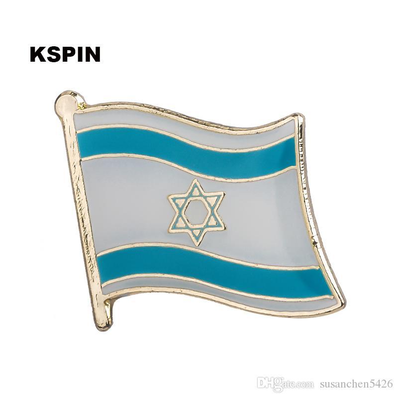 Spedizione gratuita l'Italia Bandiera Metallo Badge Badge Pin KS-0206