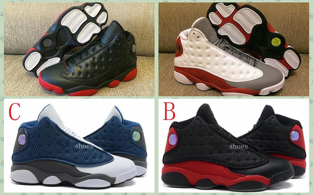 High Quality Retro 13 Bred Chicago Flints FutureMen Women Basketball Shoes  13s DMP Grey Toe History Of Flight All Star Sneakers With Box Air Retro 13  ...