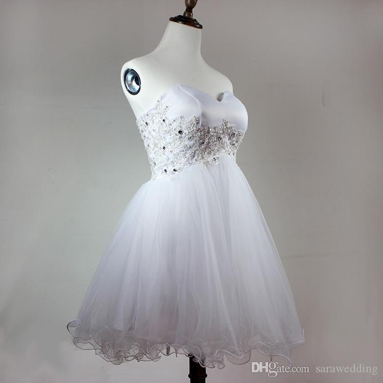 Элегантное короткое бальное платье Милая из бисера из органзы, платье для подружки невесты с аппликациями 2019, вечернее платье, реальное фото