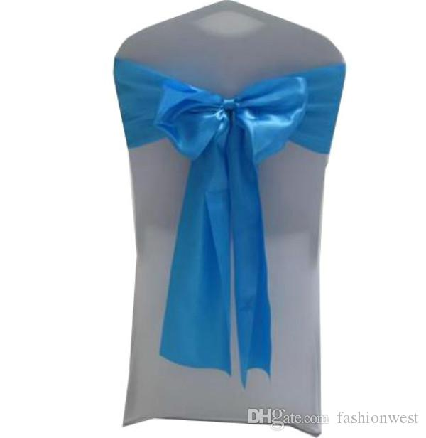 Wedding Decoration Satin Chair Cover Sash Bow Tie Ribbon Stretch Elegant Sweet Hotel Decoration Flowers Fashion High Quality Festival Weddi