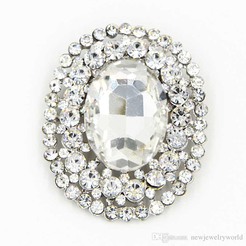 7cb91934ec Elegant Oval Shaped Big Glass Crystal Huge Brooch Top Quality Stunning  Brooch Pin For Wedding Bridal Dress Jewelry Broach Cheap Wholesale