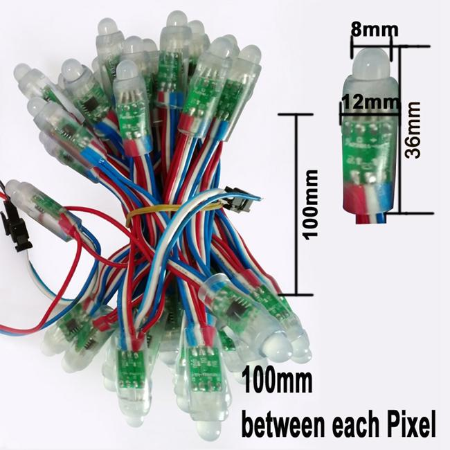 12MM WS2811 2811 IC RGB بقيادة وحدة سلسلة ماء DC 5V الرقمية بالألوان الكاملة الصمام ضوء بكسل شحن مجاني