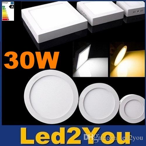30w Surface Mount Led Down Lights Square Ceiling Light Ac 110 240v Round Panel Energy Saving Lamps For Living Room Mr16 Downlights
