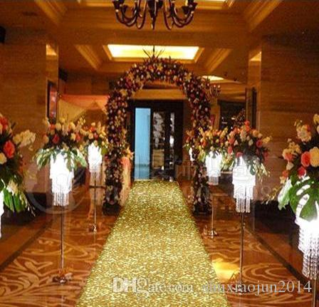 New arrival 10 m roll 1m wide gold pearlescent wedding carpet t wedding carpet t station aisle runner for wedding party decoration props supplies wedding decor cheap wedding decor south africa from shuxiaojun2014 junglespirit Images
