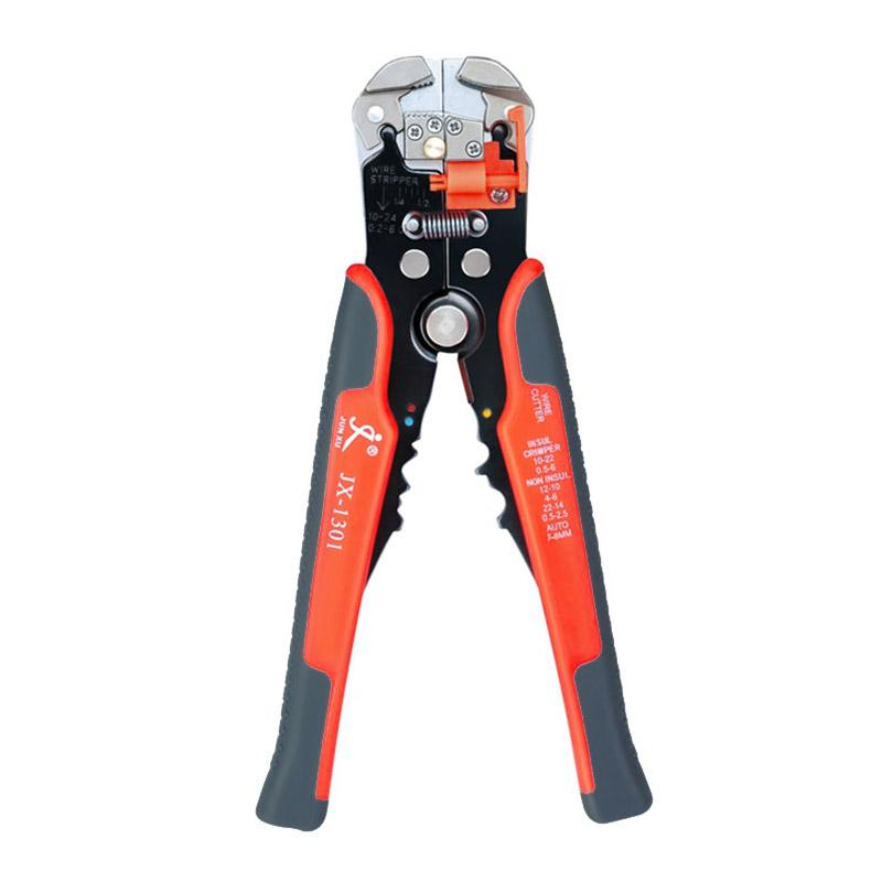 Automatic Cable Wire Stripper Self Adjusting Crimper Terminal Cutter Tool Red JX-1301