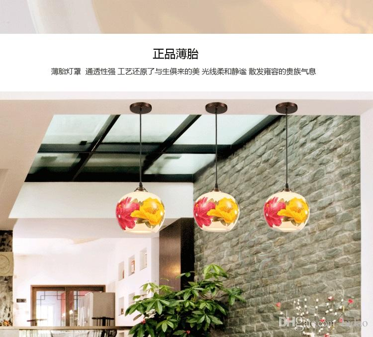Chinese pottery and porcelain lamp is acted the role of sitting room corridor corridor restaurant dining room small droplight creative hand-