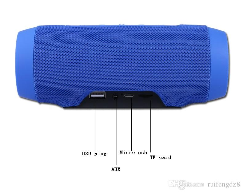 Stoff Bluetooth Lautsprecher V4.2 Leder Stil Mini Outdoor Sports Bass Leistungsstarker Subwoofer USB U AUX TF Slot