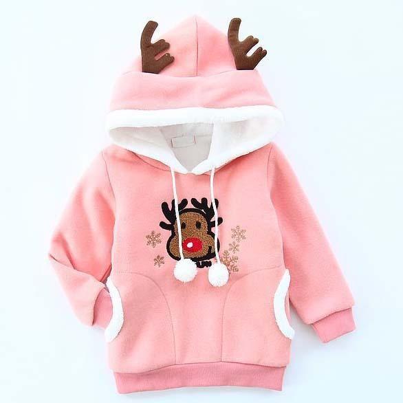 christmas hoodies korean sweat shirts girl dress hoody sweatshirt 2015 winter hoody hoodie girls tops children clothes kids clothing c18126 christmas - Christmas Hoodie
