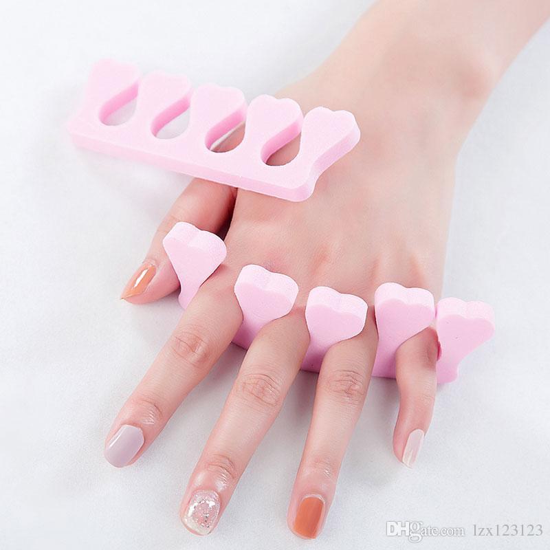 heart shape Nail Art Soft Finger Toe Separator for nail care Manicure