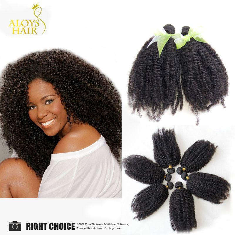 Afro Kinky Curly Virgin Human Hair Weave Bundles Cheap 6a Brazilian