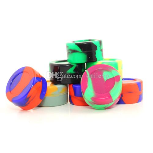 Reusable Silicone wax jars dab container 5ml 7ml 9ml Silicone Wax Containers Wax Box for Dry Herb Ecigs
