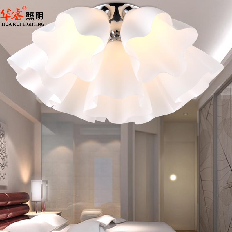 Flush Mount Ceiling Lights Glass Flowers Dome Light Parlor