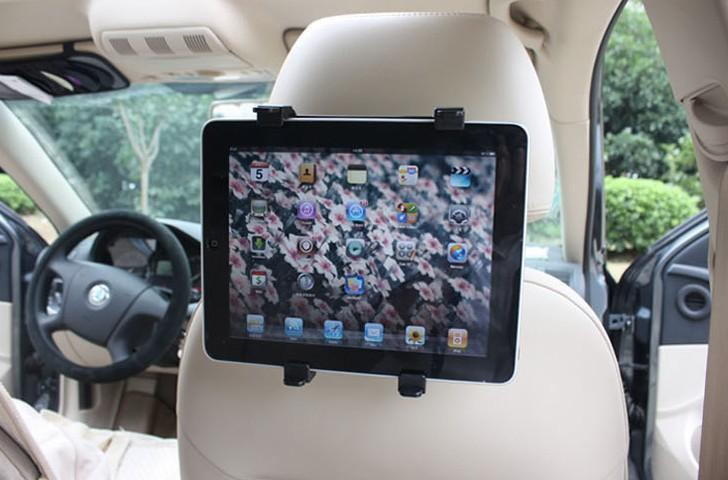 Car Headrest Mount Plastic Support Car Tablet Holder Tablet Holder