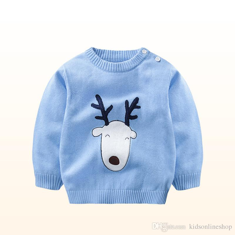 3 Colour 2017 New Autumn Winter Children Boys Girls Sweaters Baby Cute Deer Sweater  Kids Clothing Baby Pullover Sweater Designs For Children Toddler Boys ... b6780be32
