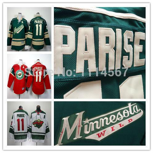 d4b7b27f663a youth kids nhl jerseys minnesota wild 11 zach parise red jerseys