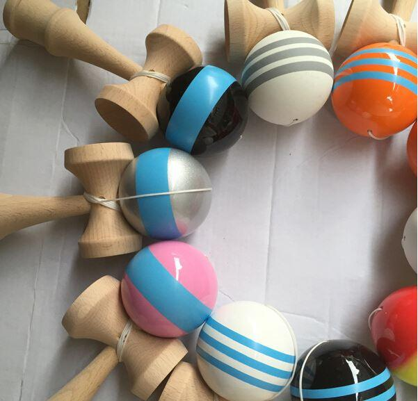 Many Colors big Kendama Ball Japanese Traditional Wood Game Toy Education Gifts, Activity Gifts toys fast shipping