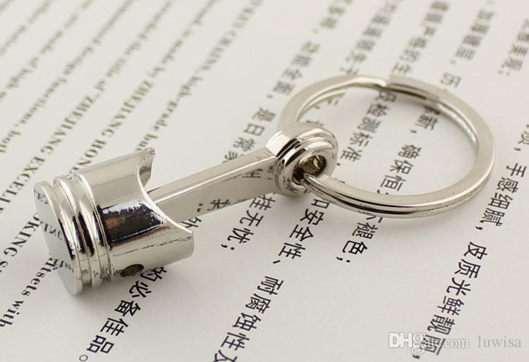 피스톤 키 체인 크리 에이 티브 액세서리 자동차 부품 모델 자동차 키 링 키 체인 링 키 링 Keyfob / 고품질