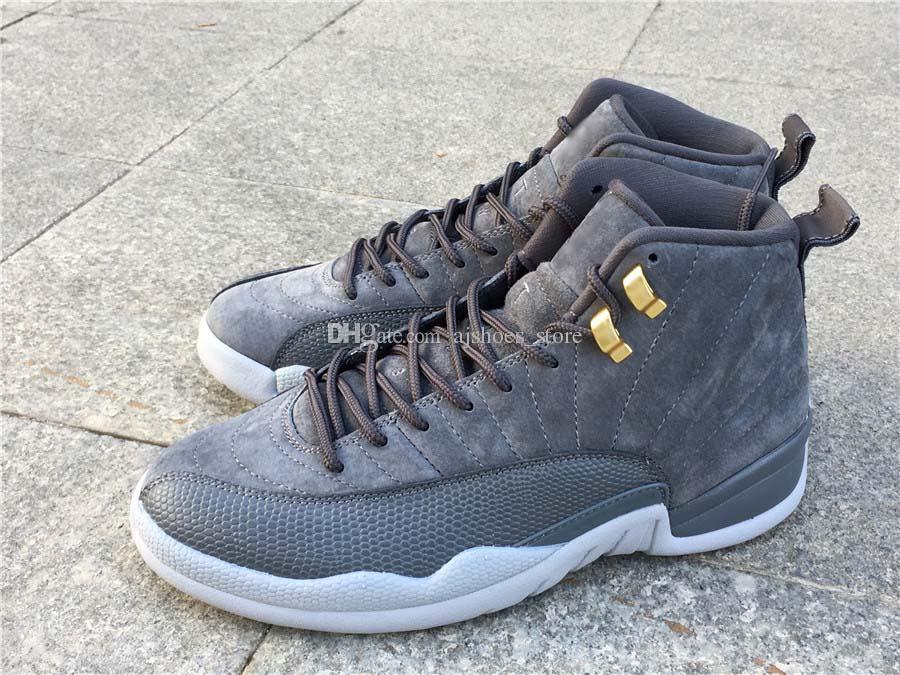 new concept bdbd2 1a287 Dop Shipping 12 Dark Grey 12s Real Carbon Fiber 130690-005 Men Basketball  Sports Shoes Men Sneaker With Box