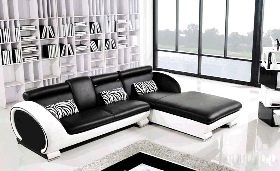 Acquista Moderna Sofa Design Piccolo Divano A L Set Divano In Pelle ...