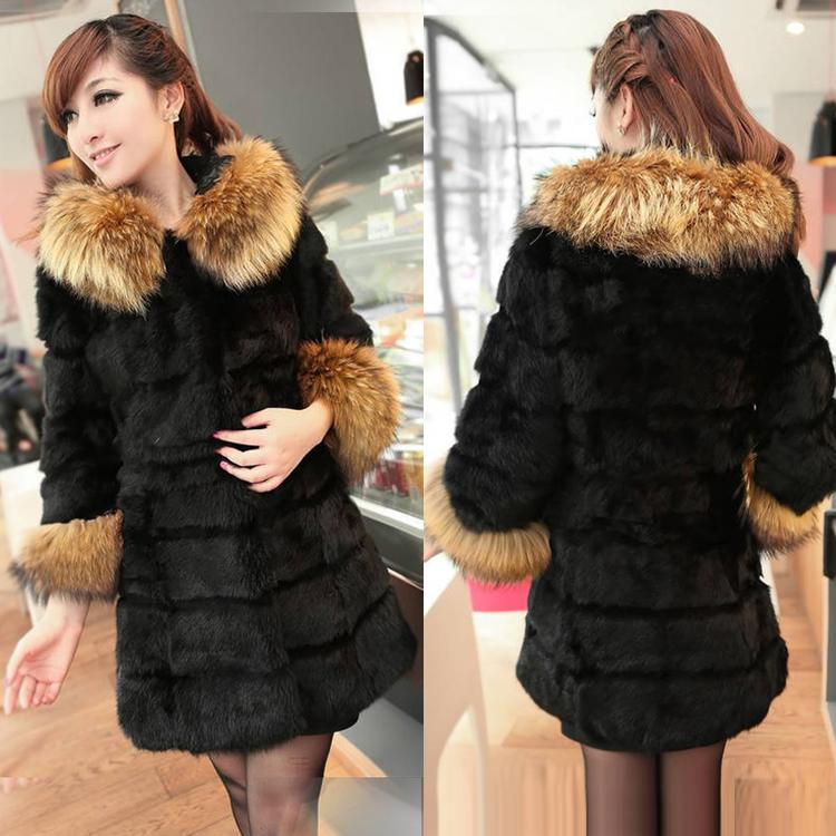 Fur Coats Winter Warm Long Coat Women Faux Fur Jacket And Coat Fur ...