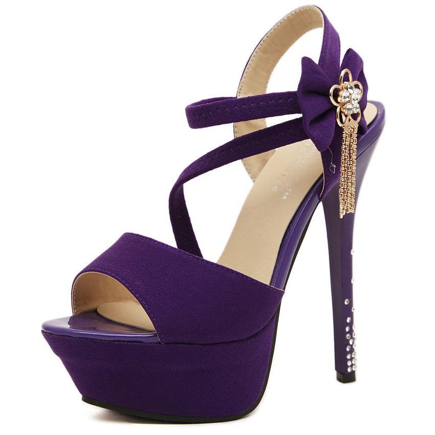 Club Evening Sexy Sandalias Negras Flores shinning diamond Moda High Platform Tacones de aguja Zapatos