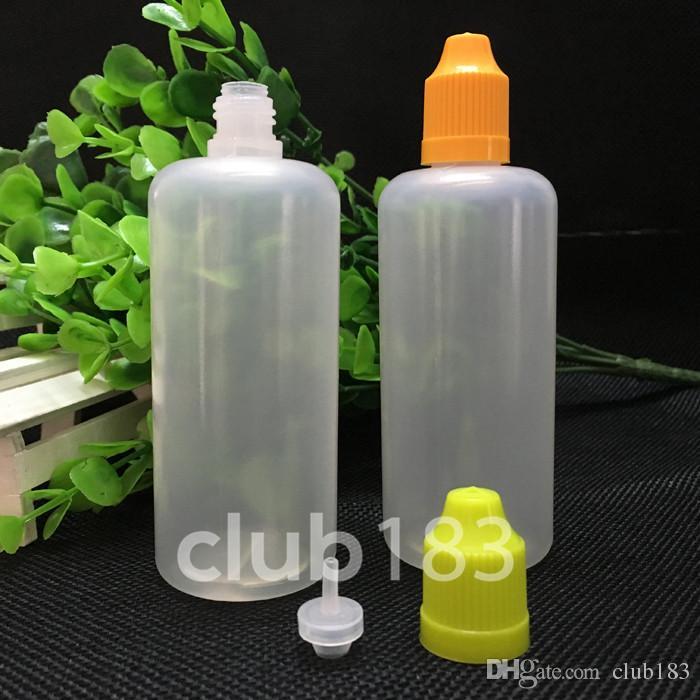 Freies Verschiffen E Flüssigkunststoff Tropfflaschen 100ml Augentropfflasche Kindergesicherte Cap Lange dünne Spitze Plastikflaschen