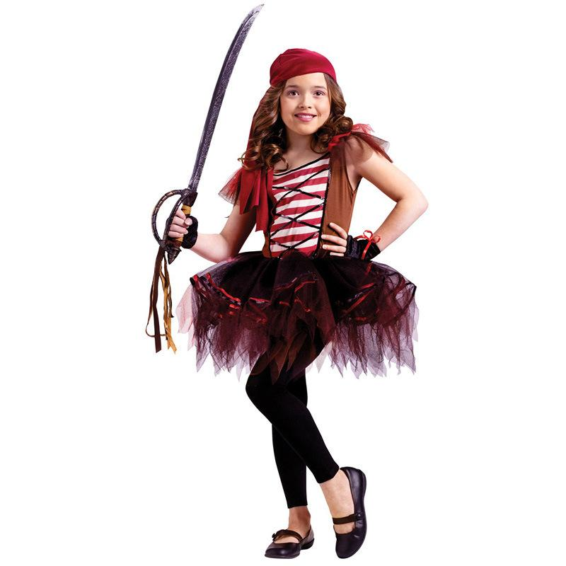 2015 Kids Girls Pirate Costume Halloween Infant Girls Cute Pirate Scarf+ Dress+Gloves Costumes Party Cosplay Performance Clothes No14 T Themed Costumes Good ...  sc 1 st  DHgate.com & 2015 Kids Girls Pirate Costume Halloween Infant Girls Cute Pirate ...