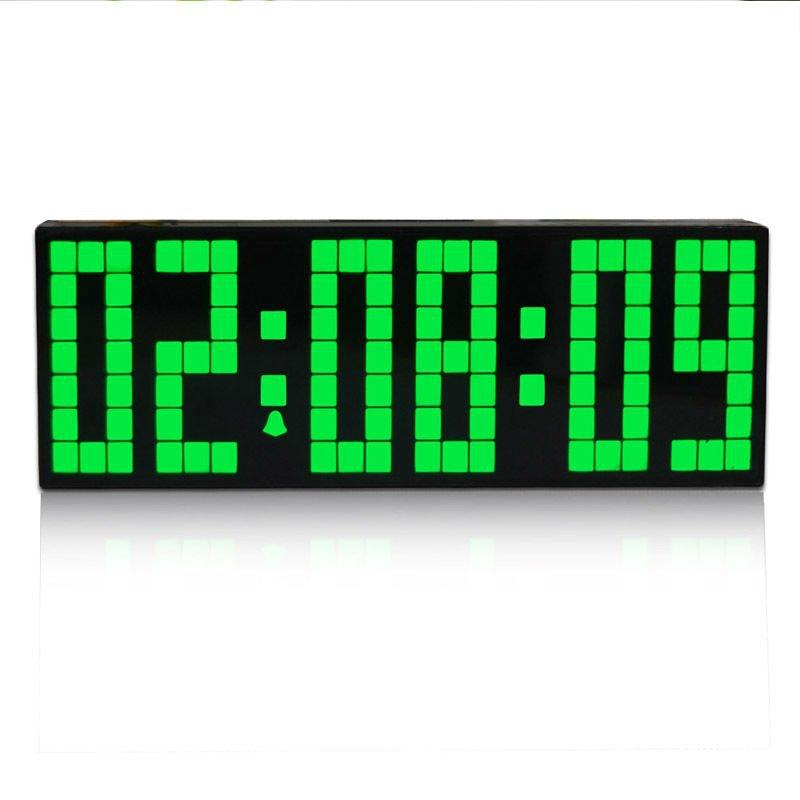 fashion electronic snooze alarm clock large led digital wall clock with timer luminous calendar countdown function
