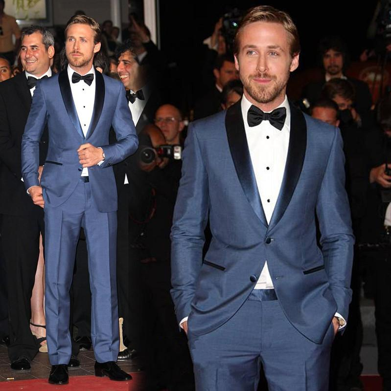 2015 Latest Fashion Blue Suit With Bottons Groom Wedding Suit ...