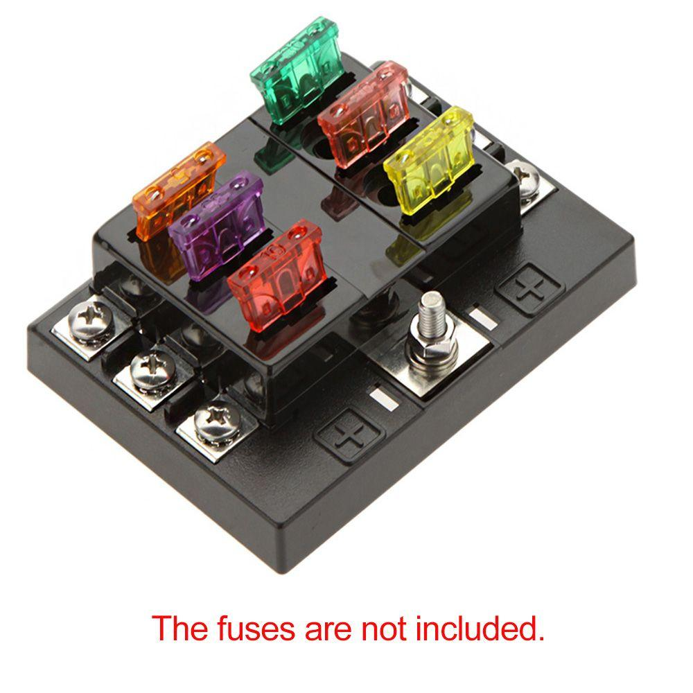 universal 6 way circuit car fuse box holder discount universal 6 way circuit car fuse box holder 32v dc universal automotive fuse box at edmiracle.co