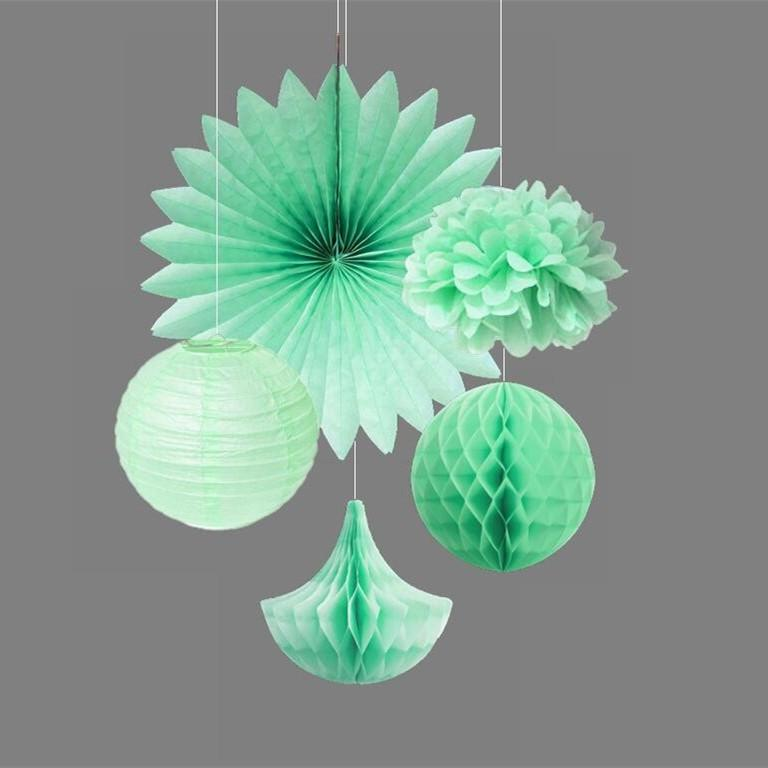 Mint kit party decoration tissue paper pom pomsfans tissue paper mint kit party decoration tissue paper pom pomsfans tissue paper honeycomb dropsballs fluffy paper flowers wedding decor flower wedding decoration mightylinksfo